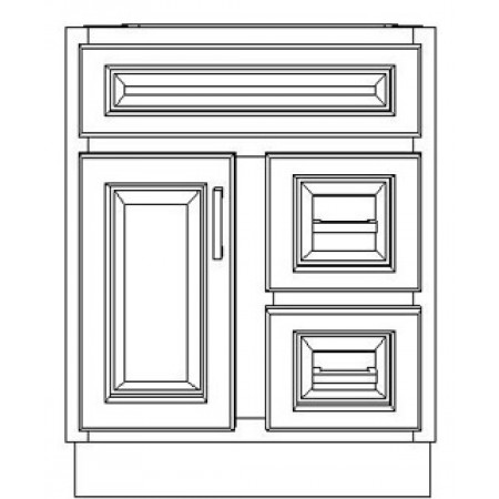 """VSD24DR/WHS(24"""" Cabinet)"""