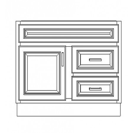 """VSD36DR/GRY(36"""" Cabinet)"""