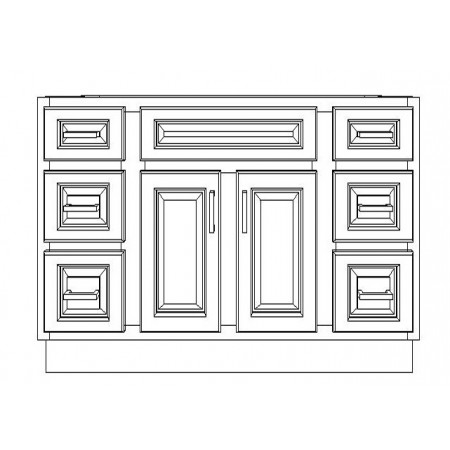 "VSD48/WHS(48"" Bundle)-6 Drawers"
