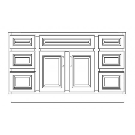 "VSD72D/DWC(72"" Cabinet)-4 Drawers"