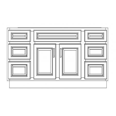 "VSD72D/DWC(72"" Cabinet)-4 Drawers"