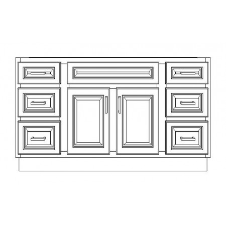 """VSD60D/GRY(60"""" Bundle)-6 Drawers"""