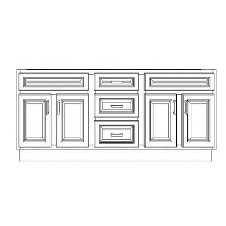 """VSD72DD/DWC(72"""" Bundle)-3 Drawers"""