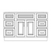 """VSD54/DWC(54"""" Bundle)-6 Drawers"""