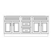"VSD72DD/GRY(72"" Bundle)-3 Drawers"