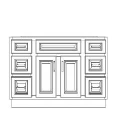 """VSD48/DWC(48"""" Bundle)-6 Drawers"""