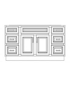 "VSD60D/WHS(60"" Bundle)-6 Drawers"