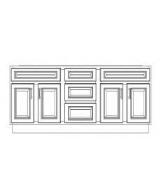 "VSD72DD/WHS(72"" Cabinet)"