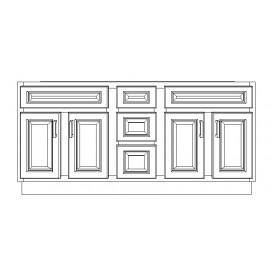"VSD60DD/GRY(60"" Cabinet)"