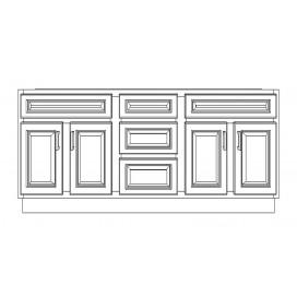 "VSD72DD/DWS(72"" Cabinet)-3 Drawers"